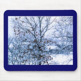tempo do inverno mouse pad