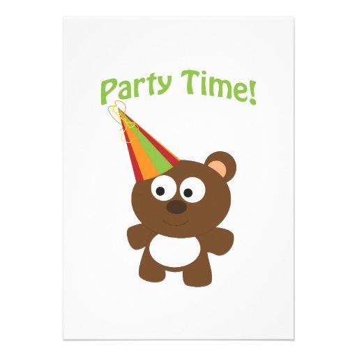 Tempo do partido! Convites de festas do urso