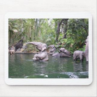 Tempo do partido do elefante mouse pad