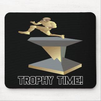 Tempo do troféu mouse pad