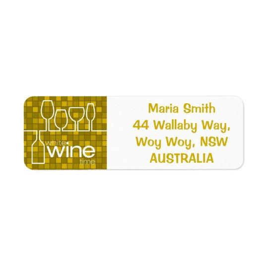 Tempo do vinho etiqueta endereço de retorno