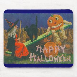 Tempo feliz do jogo do Dia das Bruxas do vintage Mouse Pad