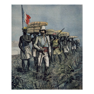 Tenente Mizon em sua missão 1892 Poster