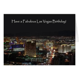 Tenha um aniversário fabuloso de Las Vegas! Cartão