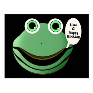 Tenha um aniversário Hoppy Cartão Postal