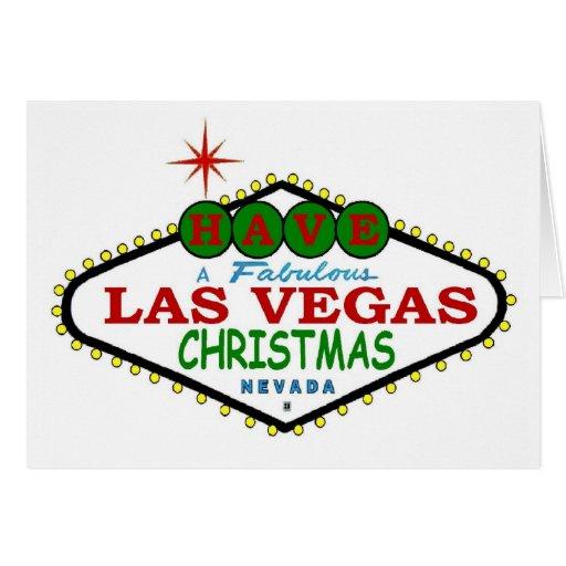 TENHA um cartão de Natal fabuloso de Las Vegas