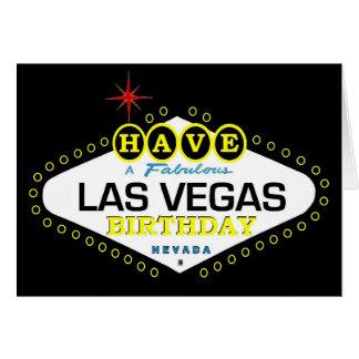 Tenha um cartão fabuloso de Las Vegas