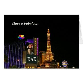Tenha um cartão fabuloso de Las Vegas do PAI do