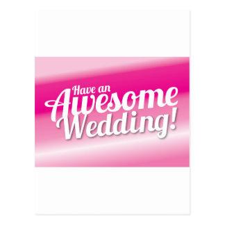 Tenha um casamento impressionante cartão postal