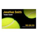Tênis que treina para a instrução do tênis cartão de visita