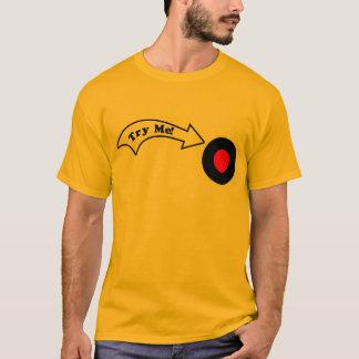 Tente-me botão camiseta