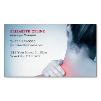 Terapeuta azul elegante moderno da massagem da