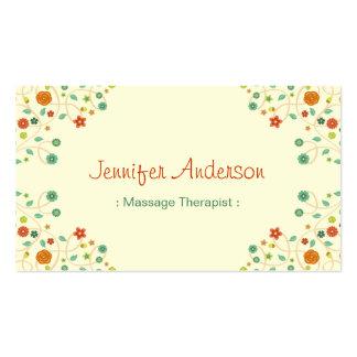 Terapeuta da massagem - na moda chique da natureza cartão de visita