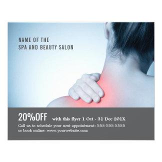 Terapeuta elegante da massagem da foto do cinza flyer 11.43 x 14.22cm