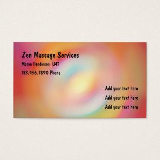 Terapeuta licenciado zen da massagem cartão de visitas