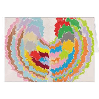 Terapia da cor - variedades multicoloridos do cartão comemorativo