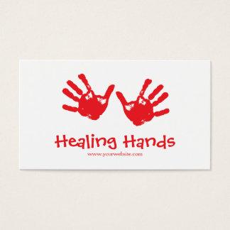 Terapia da massagem cartão de visitas