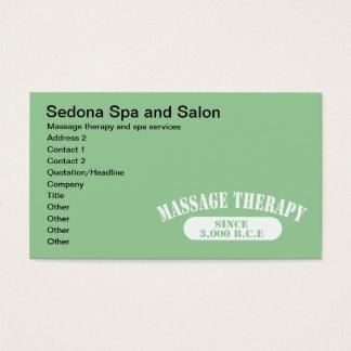 Terapia da massagem desde 3.000 B.C.E. Cartão De Visitas