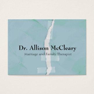 Terapia de papel rasgada da psicologia da família cartão de visitas
