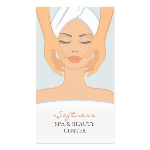 Termas e cartão de visita da beleza