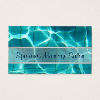 Termas e massagem cartão de visitas