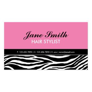Termas elegantes modernos do cabeleireiro do rosa cartão de visita