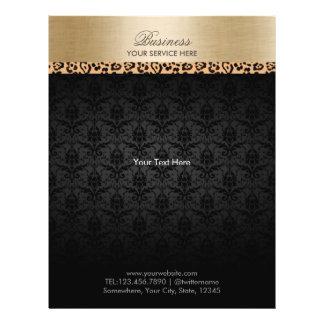 Termas escuros listrados do salão de beleza da flyer 21.59 x 27.94cm