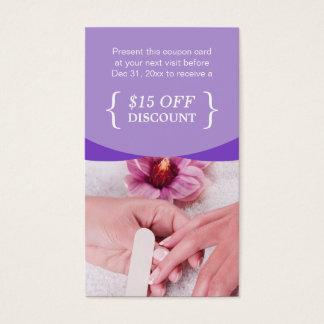 TERMAS florais roxos do salão de beleza do prego Cartão De Visitas