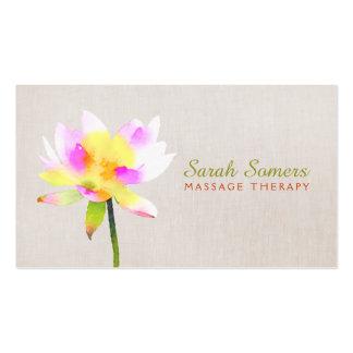 Termas holísticos de Lotus NaturalHealth da Cartão De Visita