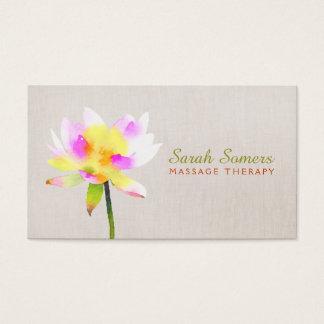 Termas holísticos de Lotus NaturalHealth da Cartão De Visitas