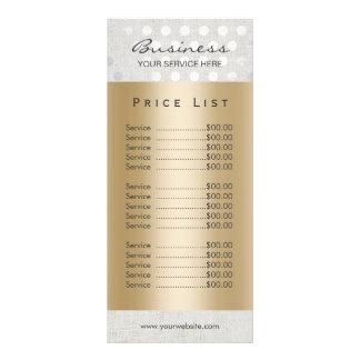 Termas modernos do salão de beleza do ouro dos 10.16 x 22.86cm panfleto