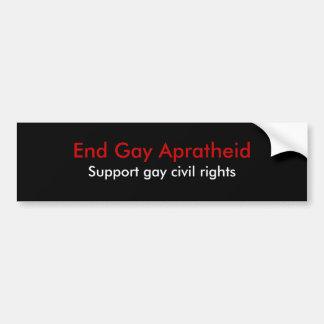 Termine Apratheid alegre, direitos civis alegres d Adesivo Para Carro