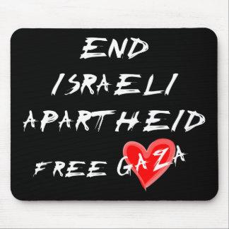 Termine o texto branco do Apartheid israelita no Mouse Pad
