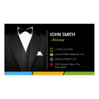 Terno do homem de negócios do smoking do cartão de visita