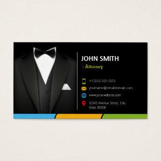 Terno do homem de negócios do smoking do cartão de visitas