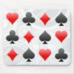Ternos do cartão do vinte-e-um/póquer: Arte do vet Mousepads