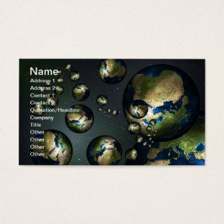 Terra abstrata cartão de visitas