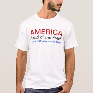 Terra de América do livre Camiseta