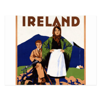 Terra de Ireland do vintage eterno da juventude Cartão Postal
