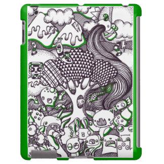 Terra do monstro do Doodle Capa Para iPad