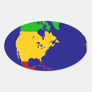 Terra do planeta de Rasta Adesivos Em Formato Ovais