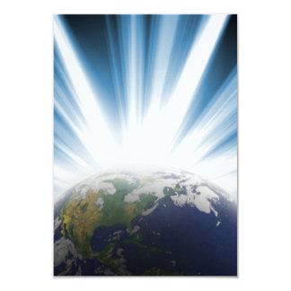 Terra do planeta do espaço convite personalizados