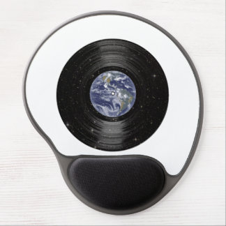 Terra no registro de LP do vinil do espaço Mouse Pad Em Gel