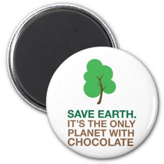 Terra, o único planeta com chocolate imas