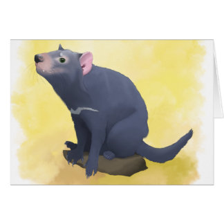 Terry o cartão do diabo tasmaniano