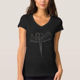 Tesouras do cabeleireiro com T das asas Camiseta