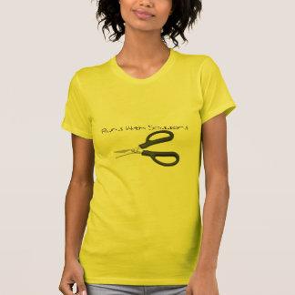 tesouras, funcionamentos com tesouras tshirts