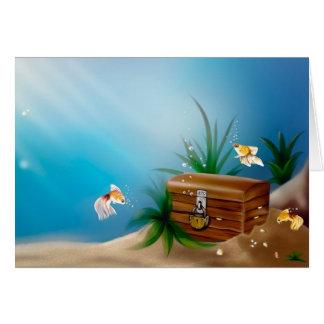 Tesouros subaquáticos cartão comemorativo