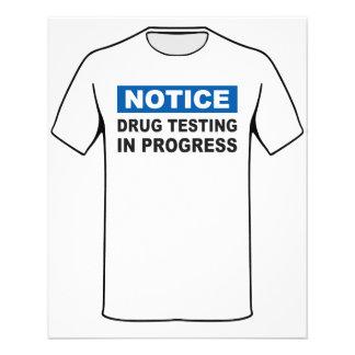 Teste da droga em andamento panfleto personalizado