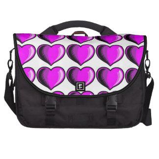 Teste padrão 3 do coração dos namorados pasta para laptop